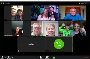 Parents completing virtual adoption via Zoom during Quarantine